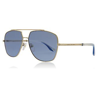 مارك جاكوبس مارك 271/S مارك الذهب/أزرق لكسكو 271/S عدسة النظارات الشمسية التجريبية مربعة حجم الفئة 2 58 ملم