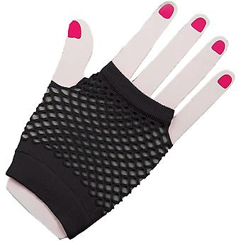 Handschuhe Fingerles Fishnt schwarz