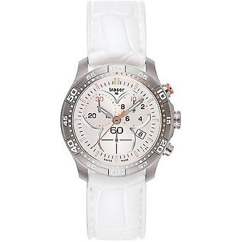 Traser H3 Ladytime silver chronograph ladies watch T7392. S5H. G1A. 08-100353