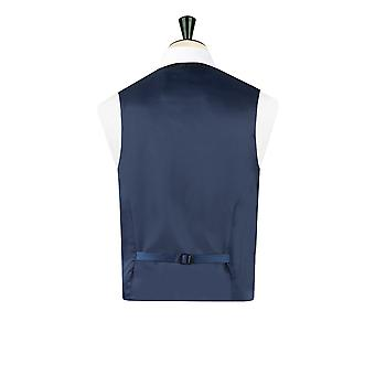 Harris Tweed Mens Dark Blue Tweed Waistcoat Regular Fit 100% Wool Windowpane Check 5 Button