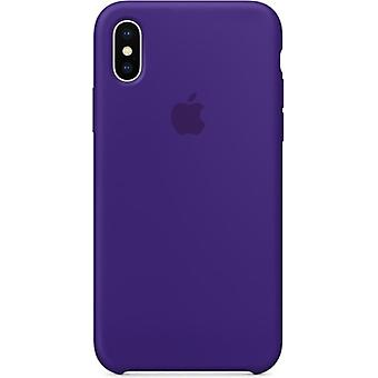 Original packaging Apple silicone Micro Fiber cover case for iPhone X - UV