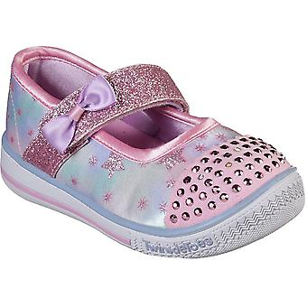 Skechers Girls Twinkle Play Sequin Mary Jane Casual Shoes