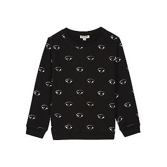 Kenzo Kids Kenzo Kids Caway Eye Black Sweatshirt