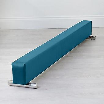 Fun!ture® Turquoise Faux Leather 6ft Long Gymnastics Balance Beam