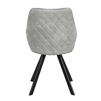 Bowl Chair Chair Leather Dining Room Living Room Quilted Grey 2Er Set