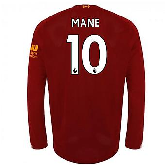 2019-2020 Liverpool Home Long Sleeve Shirt (Mane 10)