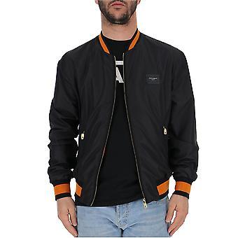 Dolce E Gabbana Black Polyester Outerwear Jacket