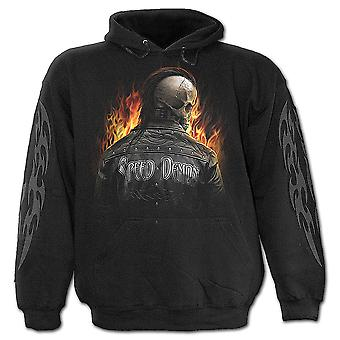 Spiral direkte gotiske SPEED DEMON - barna Hoody Black| Skeleton| Biker| Flammer
