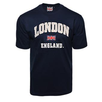 Le105ng unisex london england applique embroidery t shirt