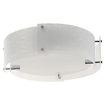 Cromo blanco helado y moldeado de vidrio montaje al ras - reflector 6044-44