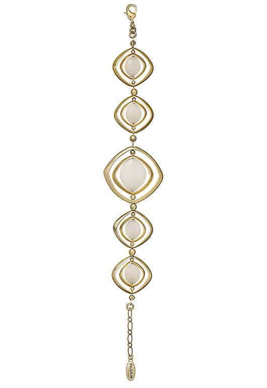 Pelgrim Damenarmband: spin wit/goud (503512)