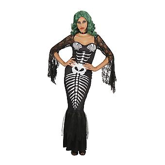 Bristol nyhet Womens/damer Skeleton Mermaid kostym