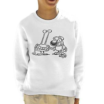 Grimmy Alien Encounter Kid's Sweatshirt