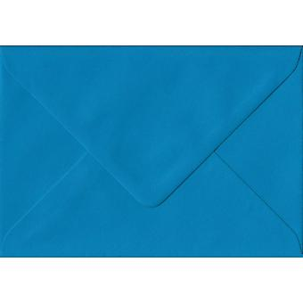 Kingfisher Blue Gummed C7/A7 Coloured Blue Envelopes. 100gsm FSC Sustainable Paper. 82mm x 113mm. Banker Style Envelope.