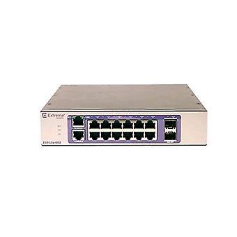 Interruptor de red gestionado Extreme 210-12p-ge2 l2 12 puerto rj-45 10/100/1000 mbps poe 2 sfp slot bronce color