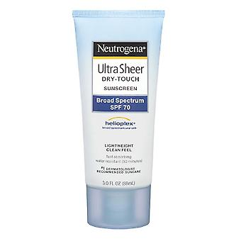 Neutrogena ultra sheer dry-touch sunscreen, spf 70, 3 oz