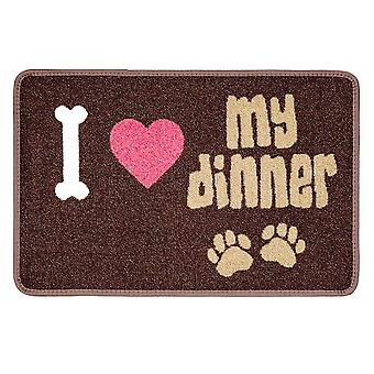 Pet Rebellion I Love My Dinner Food Mat