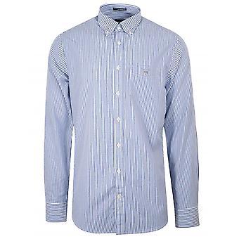 Gant GANT College Blue Stripe Regular Fit Broadcloth Banker Shirt