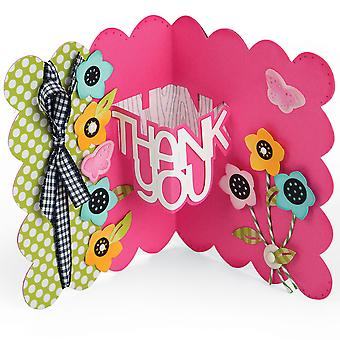 Sizzix Thinlits Dies 9/Pkg By Stephanie Barnard-Thank You Sentiments Drop-Ins Card 661128