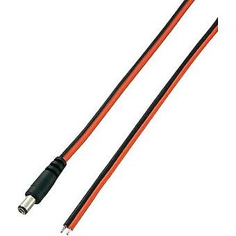 Low power cable Low power plug-Cable, open-ended 5.5 mm 2.1 mm VOLTCRAFT 2 m1 pc(s)