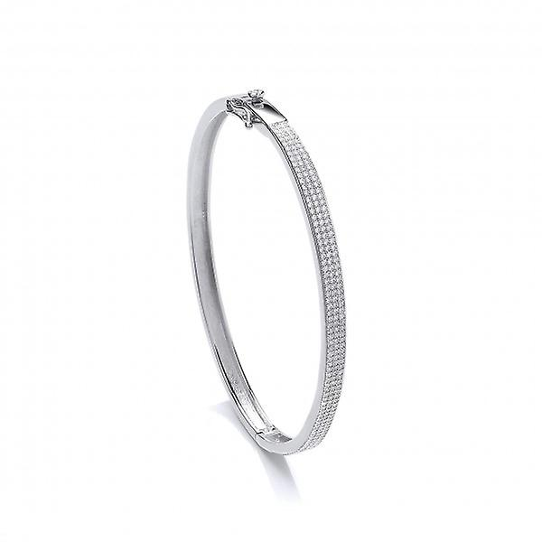 Cavendish French Elegant Silver and Micro Set CZ Bangle