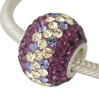 Sterling silver charm with swarovski crystals ZS2128