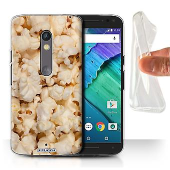 STUFF4 Gel/TPU Case/Cover for Motorola Moto X Play 2015/Popcorn/Snacks