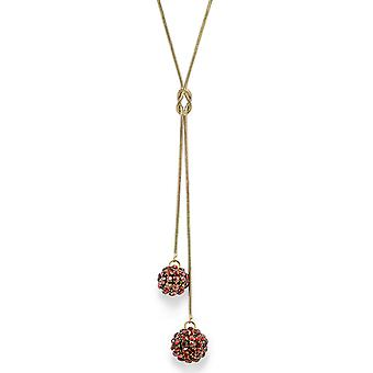 Red Magma Crystal Mesh Ball Pendant Necklace PMB112.11