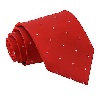 Men's Pin Dot Dark Red Tie