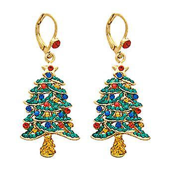 Butler og Wilson Crystal juletræ dråbe øreringe