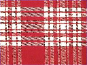 Menzies Red / White Dress, Moderne - Pure tartan de laine