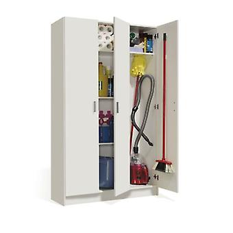 Bricohabitat Wardrobe Multipurpose 3P Escobero White 108,8X180X37 Cm