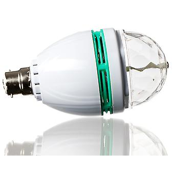 1, 5W lampadina partito B22 LED multicolore