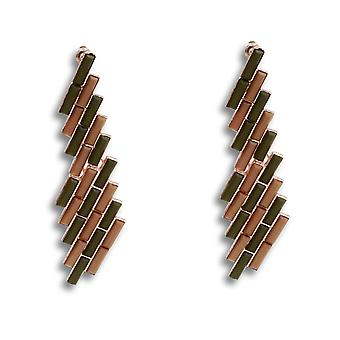 Maia bamboo-inspired dangling earrings