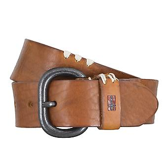 Napapijri belts men's belts leather jeans belt Cognac 4732