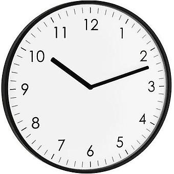 Quartz Wall clock TFA 60.3026.01 25.5 cm x 1.5 cm Black
