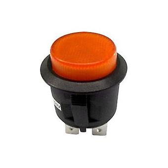 Pushbutton switch 250 Vac 6 A 1 x On/Off SCI R13-527BL-02 YELLOW NEON 250VAC latch 1 pc(s)