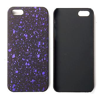 Cell phone cover case bumper shell for Apple iPhone 5 5s SE 3D star purple