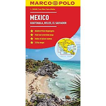 Mexico Guatemala Belize El Salvador Marco Polo Map by Marco Polo