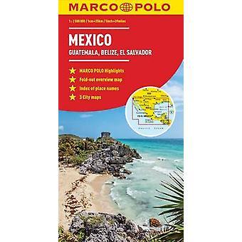 Mexique Guatemala Belize El Salvador Marco Polo carte par Marco Polo