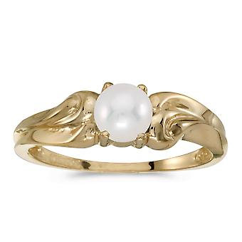14k Yellow Gold Freshwater Cultured Pearl Ring