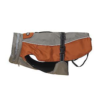 Buster vinter jakke stål grå læder brun ekstra ekstra store