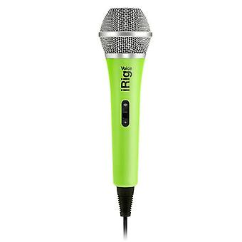 IK Multimedia iRig voice mic condenser microphone for iOS/Android - Green