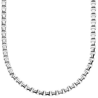 Iced out collier boîte carrée bling - 4mm - 90cm