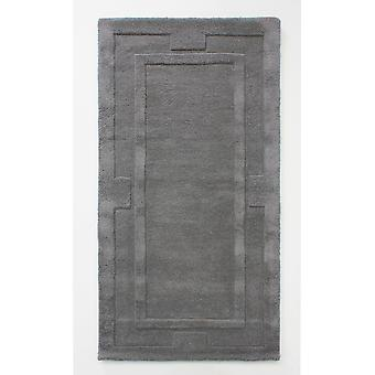 Grey Charcoal Wool Living Room Rug - Sierra Apollo 75x150