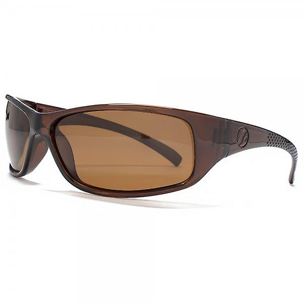 Freedom Polarised Small Wrap Sunglasses In Brown
