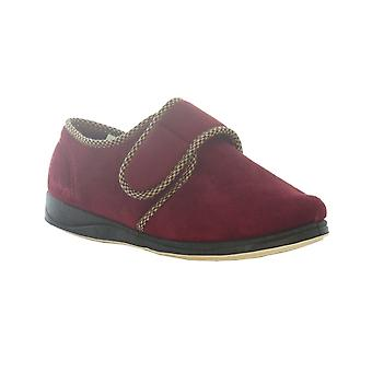 Padders Mens Slippers Harry Burgundy
