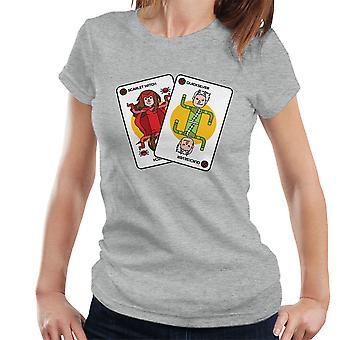 X hombres lo gemelos Scarlet Witch y Quicksilver naipes mujeres camiseta