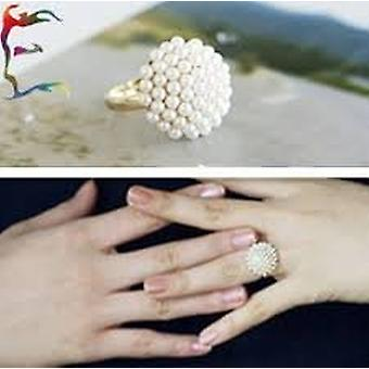 Fashion Jewellery Korea Style Pearl Rings Resizable Finger Ring including gift box by Boolavard