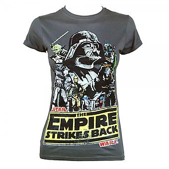 Star Wars Womens Star Wars The Empire Strikes Back T Shirt Dark Grey